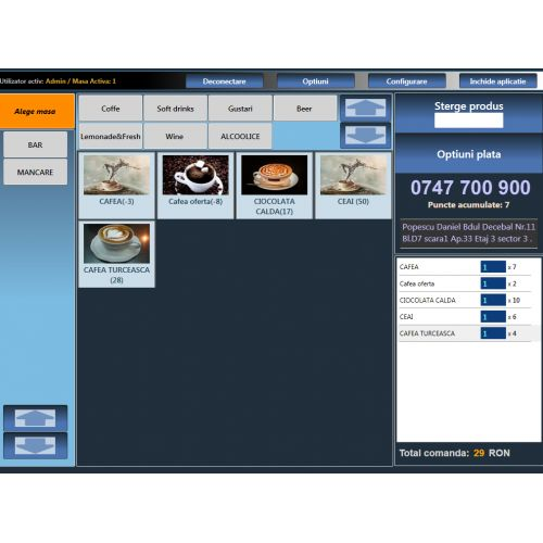 Licenta software POS retail FAST-FOOD & DELIVERY
